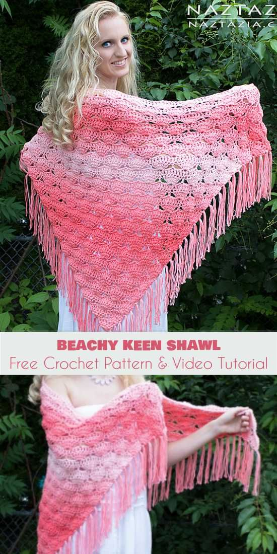 Beachy Keen Shawl Free Crochet Pattern and Video Tutorial | Knitting ...