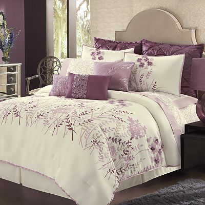 Elegant Damask Bedding And Bedroom Decorating Ideas Purple