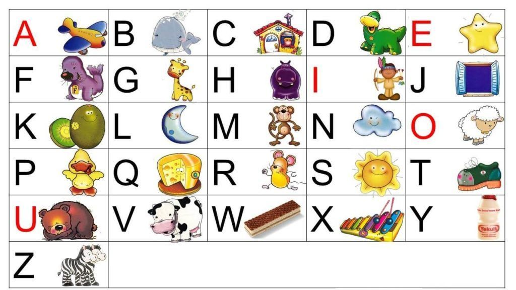 Alfabeto Para Imprimir Colorido 1 Atividades De Alfabetizacao