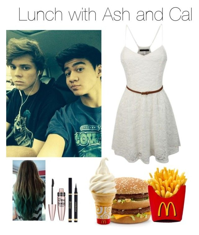 """""""Lunch with ash and cal"""" by gabbyynicole ❤ liked on Polyvore"""