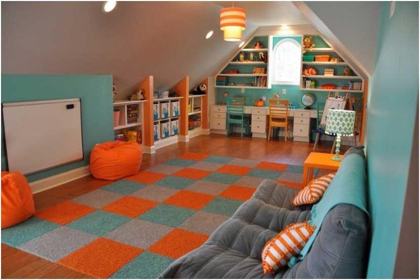 Bild Farben Kinderzimmer Hellblau Tuerkis Orange