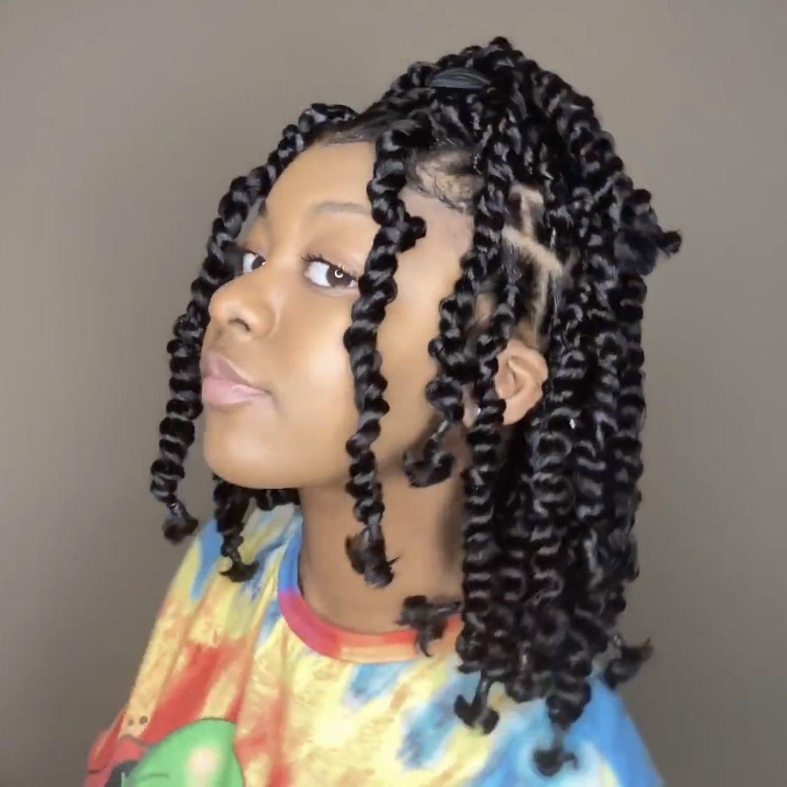 Short Passion Jumbo Twists Hair Twist Styles Twist Braid Hairstyles Natural Hair Styles Easy
