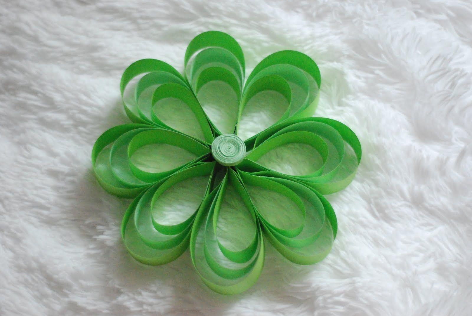 Jak Zrobic Kwiaty Z Paskow Papieru How To Make Paper Strip Flowers How To Make Paper Crafts Flowers