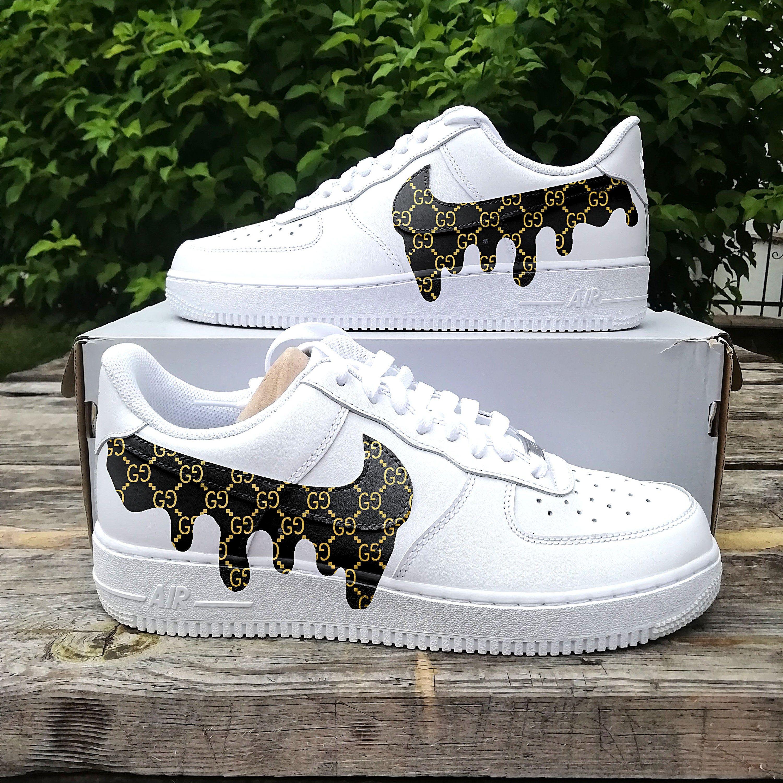 Guccy drip Air force one ,custom sneaker ,custom air force