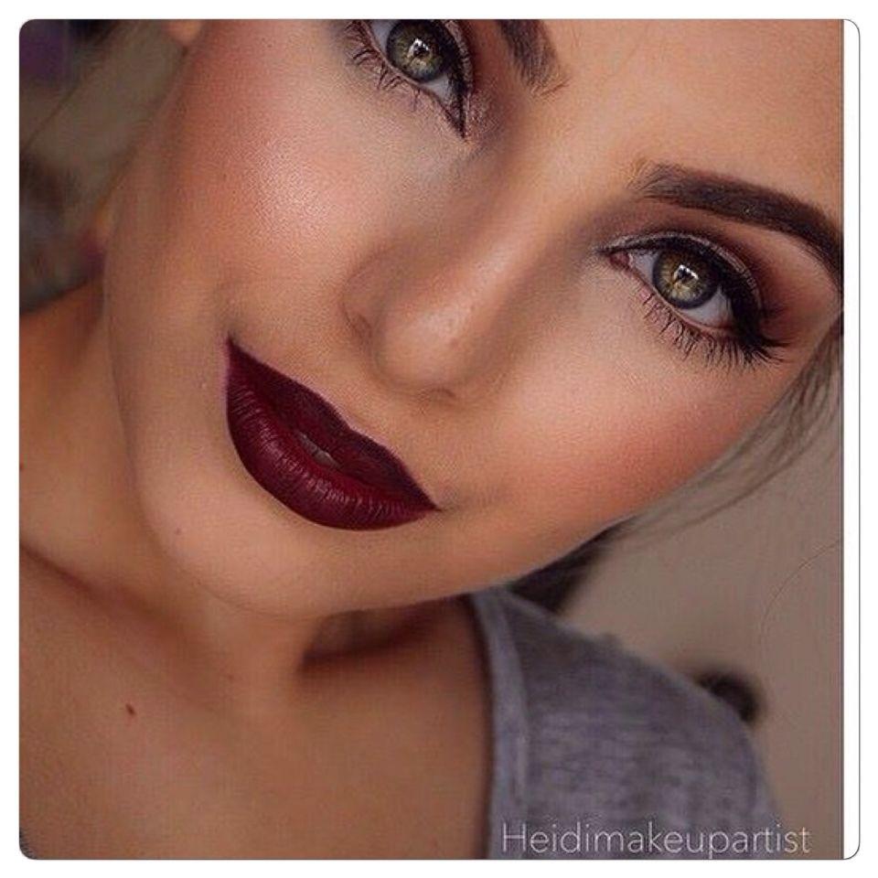 Pretty fall makeup makijarz pinterest makeup lips and