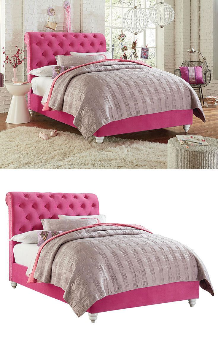 fun and feminine gabby upholstered bed will add a special touch to