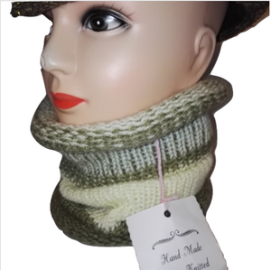 Photo of Cowl Scarf Handmade All in One Double Knit Retro Scarves #Scarf