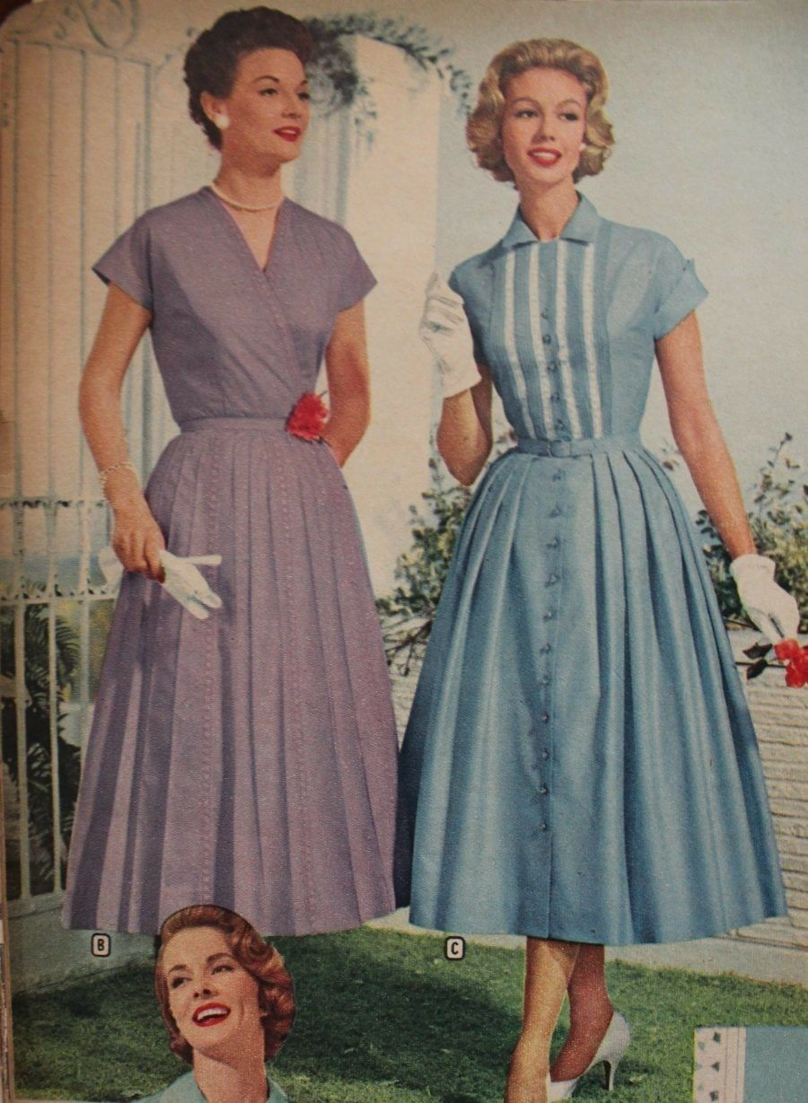 old fashion dresses 1950