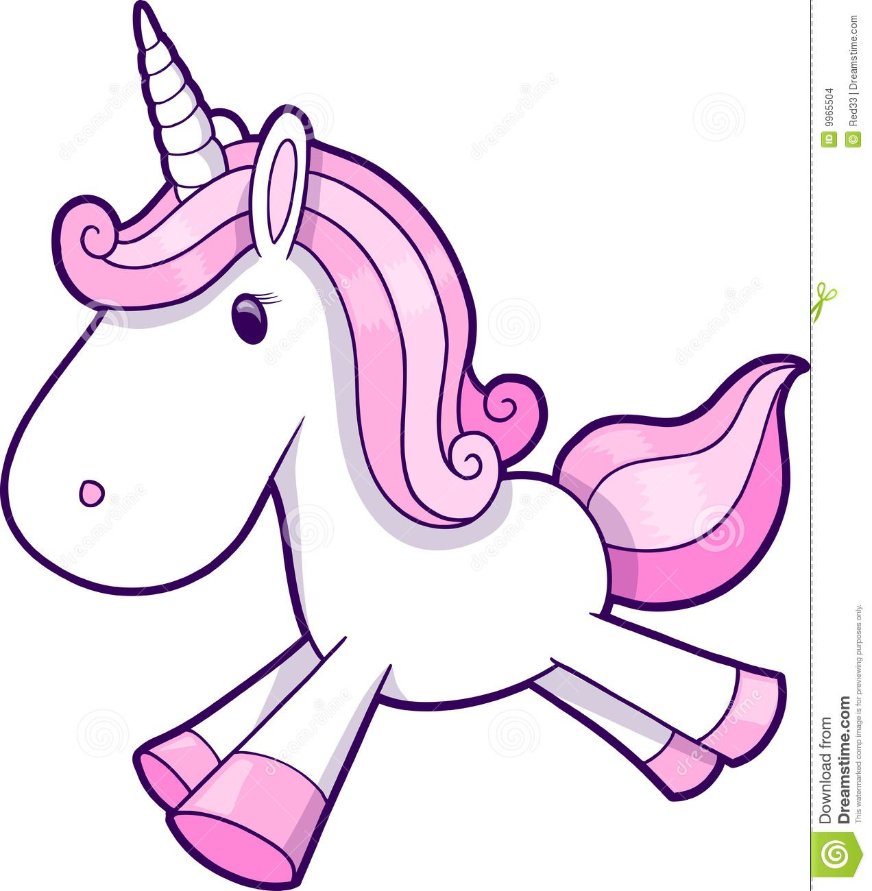 Pink Unicorn Vector Stock Images - Image: 9965504 ...