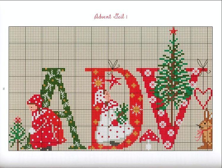 Pin von Martha Mitchell auf Cross Stitch Patterns - Christmas/Winter ...