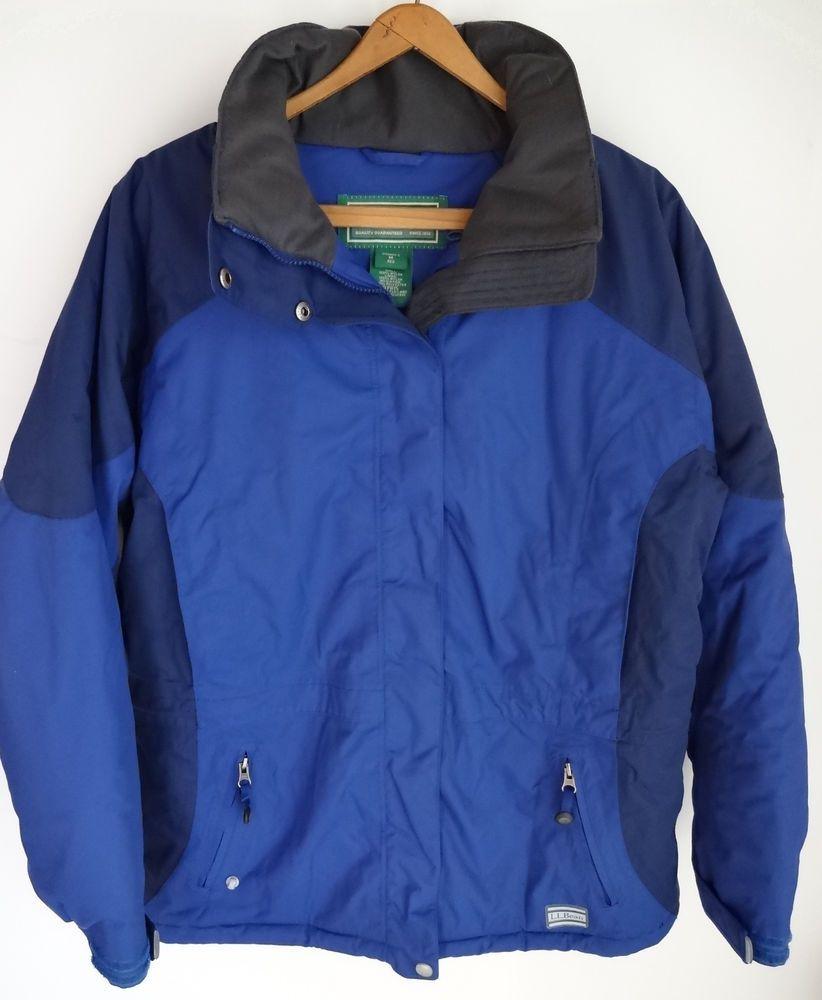 women's l.l. bean ski jacket size medium m rugged ridge parka