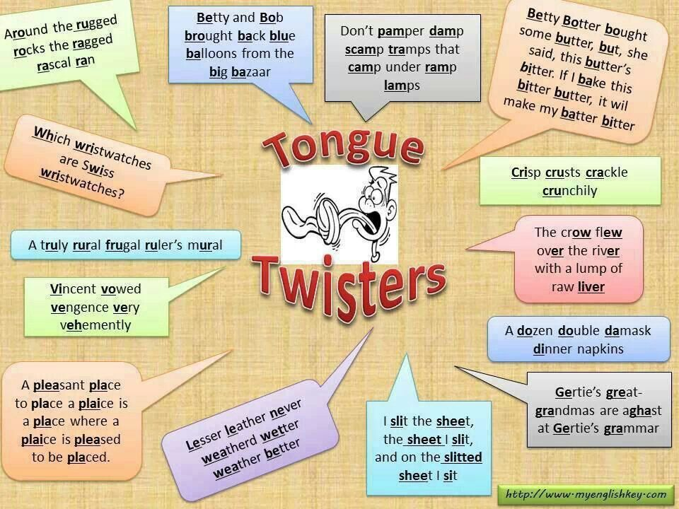 some nice tongue-twisters to be used for the late-comers ...