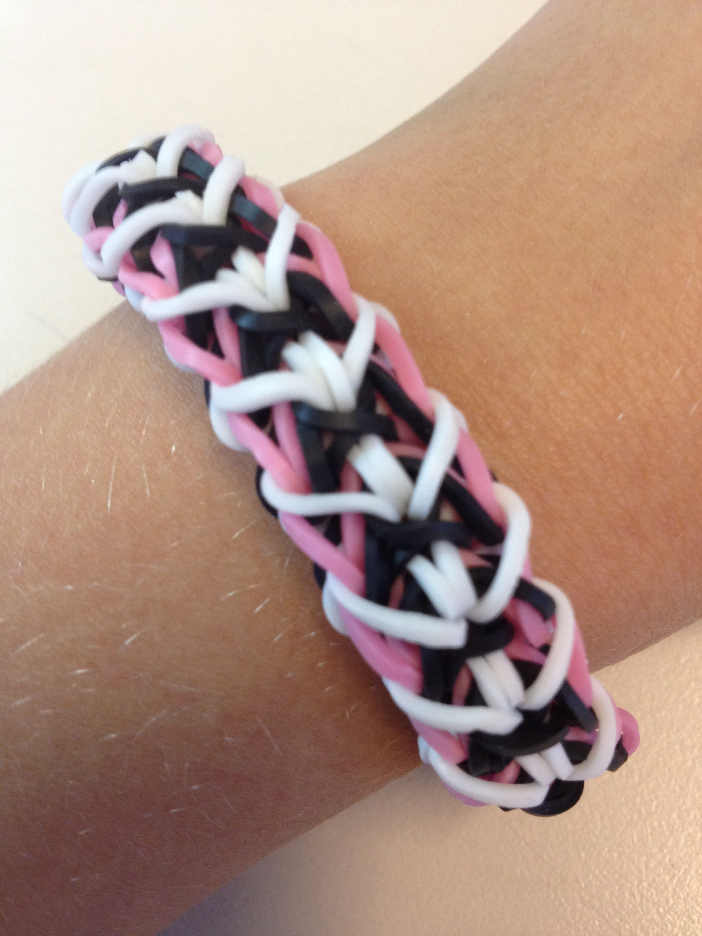 Loom bands Zipper Bracelet