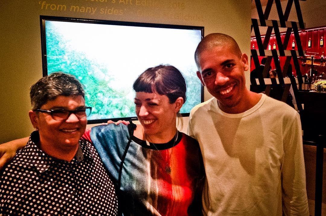 @artbasel Basel with Dominican artists Monica Ferreras De la Maza y Fermin Ceballos @davidoffarts