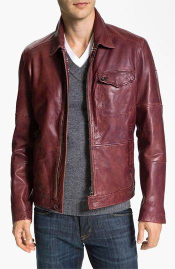 b29709102a68 HUGO 'Javis' Leather Jacket | Nordstrom Types Of Jackets, Jacket Types,  Men's