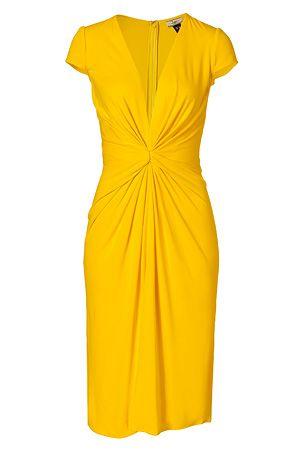 9a00c1d6b9b Saffron Yellow Cap Sleeve Silk Jersey Dress by ISSA | Luxury fashion online  | STYLEBOP.com