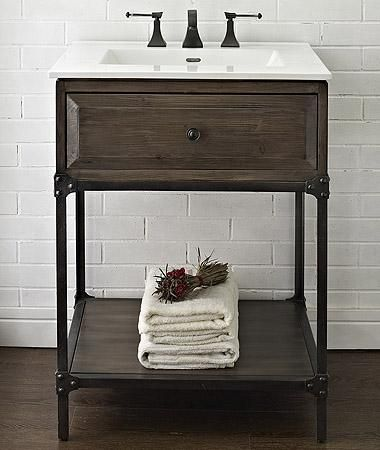 9 Scaled-Down Vanities That Are Perfect for Small Bathrooms | Powder ...