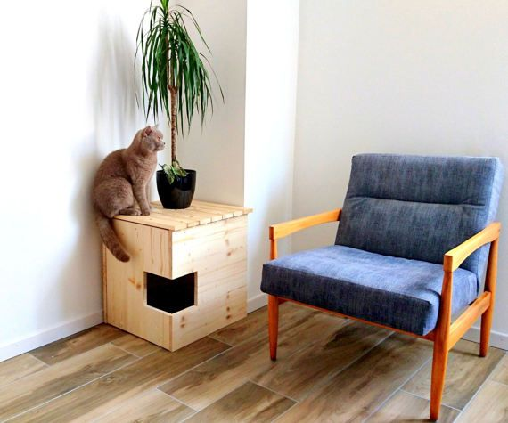 Corner Litter Box Cover Pet House Cat Litter Box Cabinet Pet Furniture Made Of Spruce Wood Meuble Pour Animal De Compagnie Bac A Litiere Chat Cacher Les Litieres