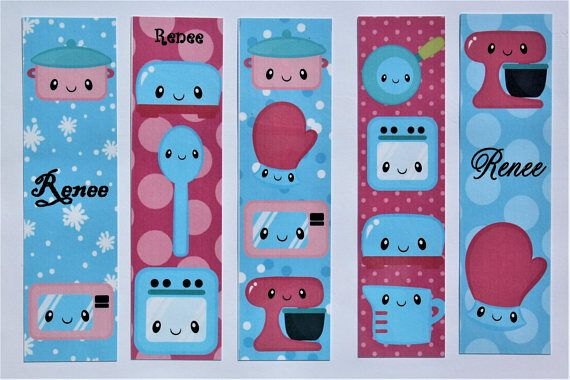 Kawaii Kitchen Kapers Book Marks