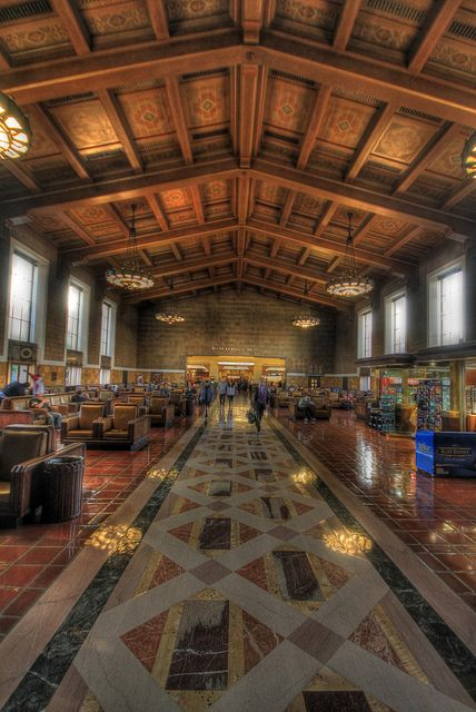 Union Station Los Angeles Rode The Metrolink With The Families 9 Grandkids During Cousins Camp July 30 California Camping Union Station California Dreamin