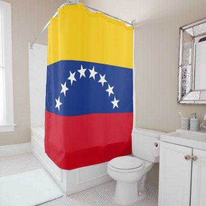 Flag of Venezuela Shower Curtain - home decor design art diy cyo