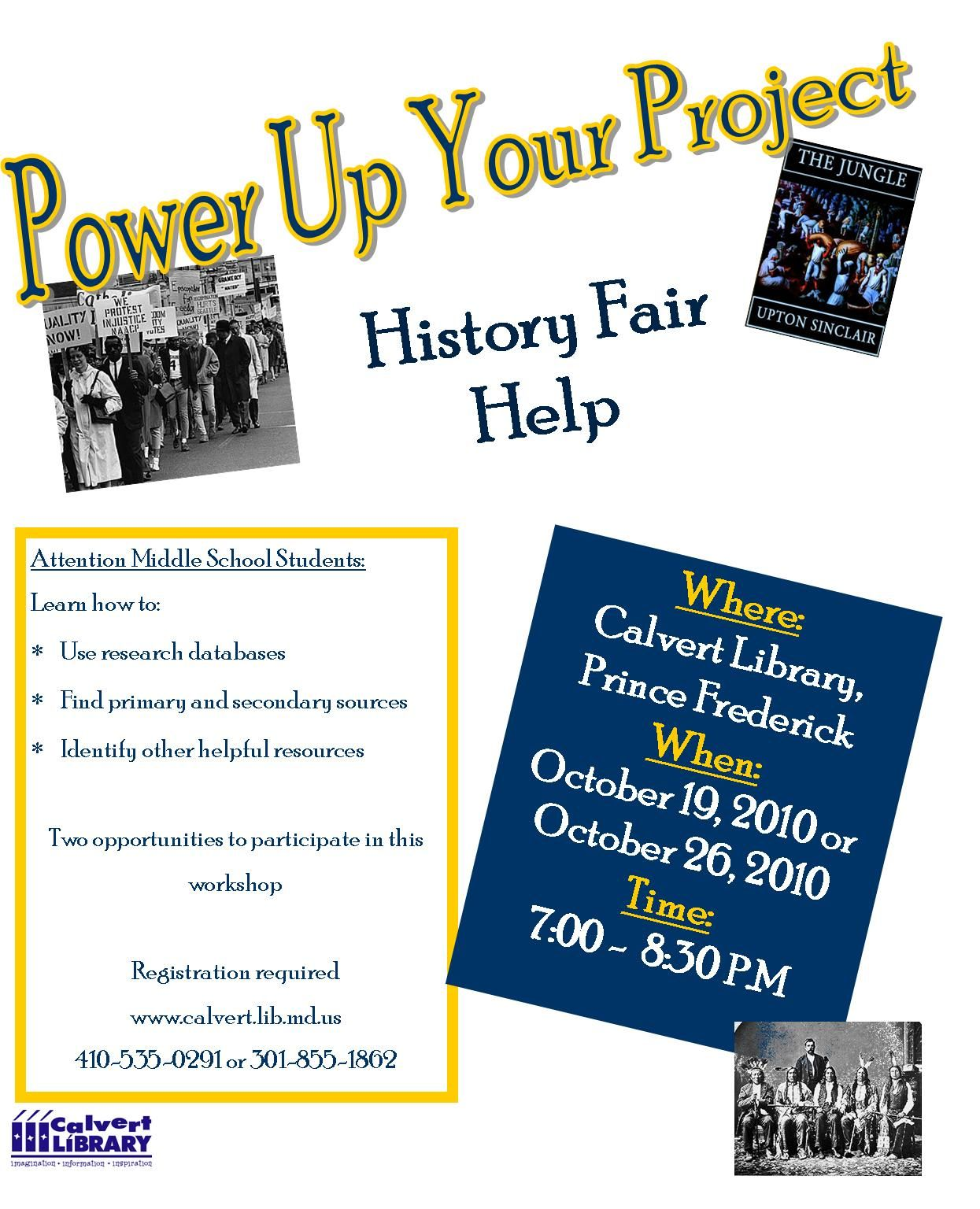 Power Up Your History Fair Project