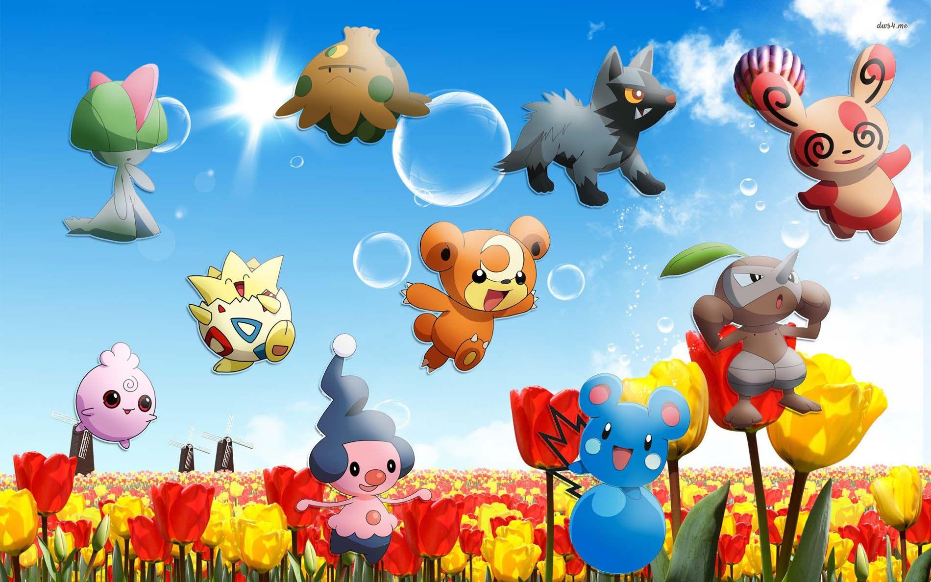Free Easter Wallpaper Backgrounds Wallaadoo Pikachu Wallpaper Pokemon Eevee Wallpaper