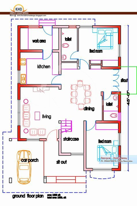 Kerala Style Homes Plans Free Unique 2 Bedroom House Plans Kerala Style 1200 Sq Feet House Plans Below With Images Model House Plan Indian House Plans Home Plan Software