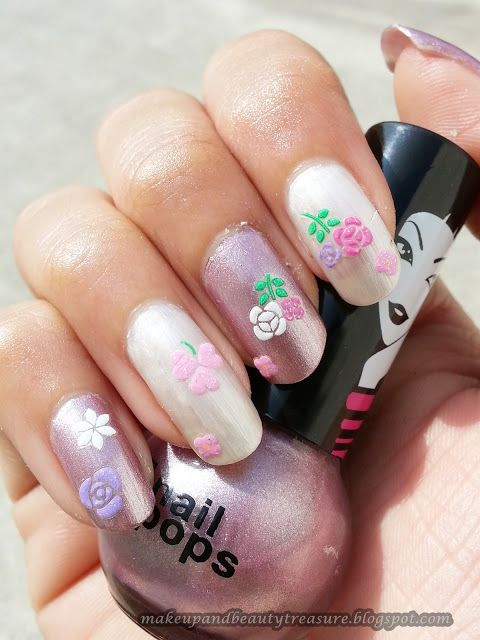 Joby 3D Nail Art Stickers \'Flowers #NA03-19\' Review & NOTD | Nail ...
