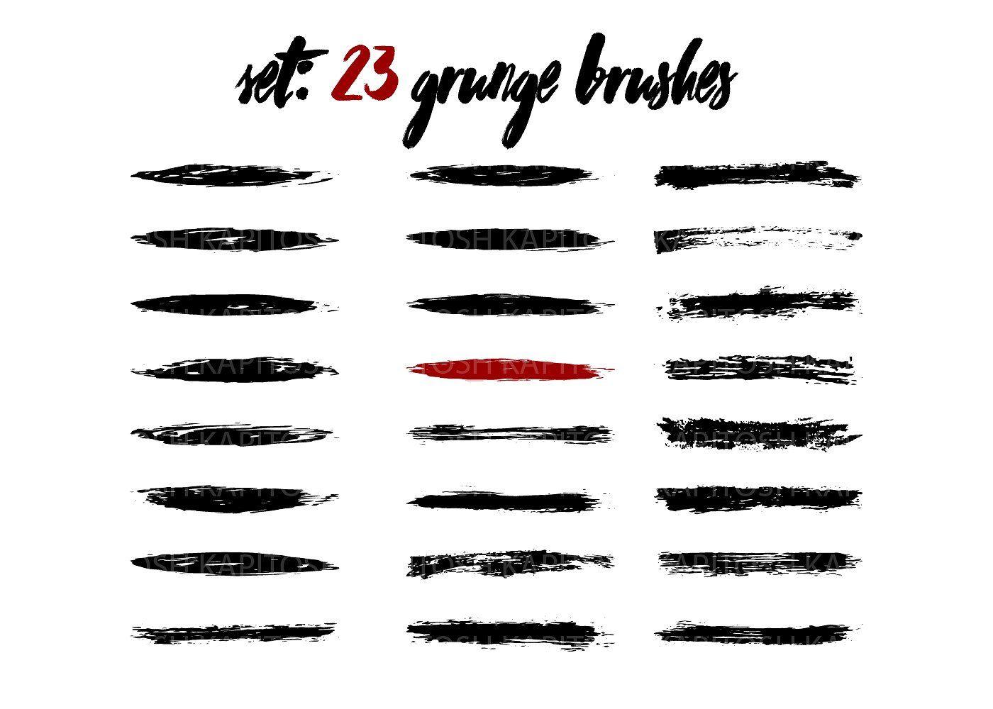 Set 23 grunge brush Chinese bonus #AI#banner#EPS#colors | Art Design