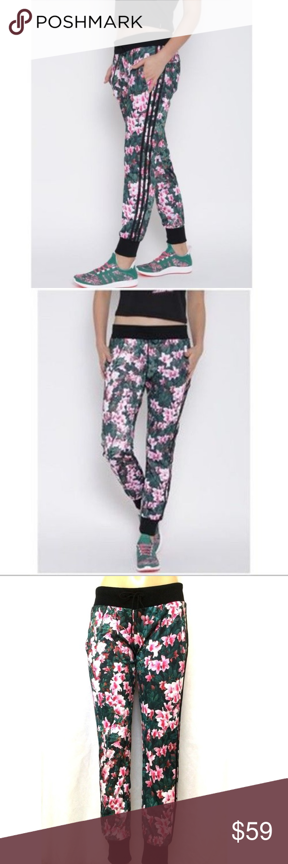 Adidas Neo Floral Print Track Pant Multicolor Pink Adidas