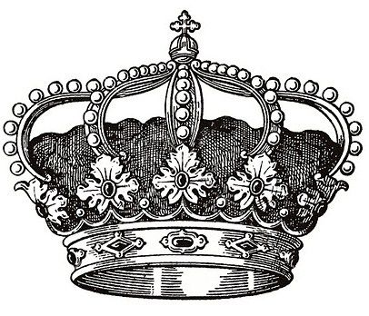 Crown Printable Black And White Pinterest Decoupage Crown And