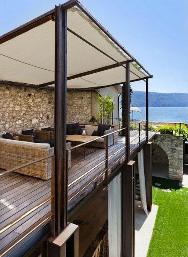 Garten Pergola Aus Metall Terrassenüberdachung Sichtschutz