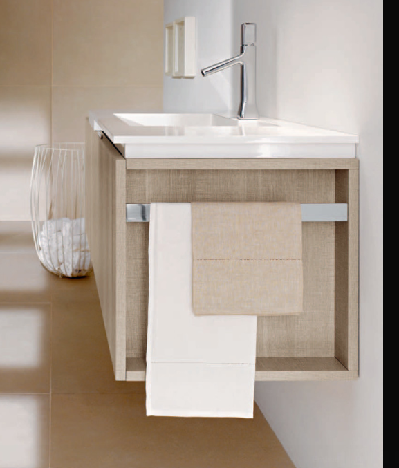Bath Accessories  No Drilling Required! Fly Collection By Milldue Vanity  Composition In Tranche Sabbia