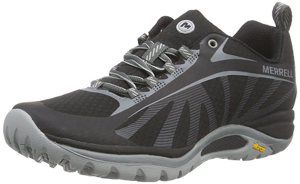 Amazon.com | Merrell Women's Siren Edge Hiking Shoe, Black/Purple, 5