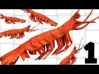 Origami Shrimp King Prawn Tutorial Yagob Part 1 2
