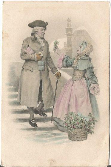Austrian Gentleman Traveler and Lady in by postcardsintheattic   New Listing: #postcard #ephemera #antique #vintage #vintagepaper #etsy #antiquepaper #collectible #antiquepostcard #vintagepostcard #Spring