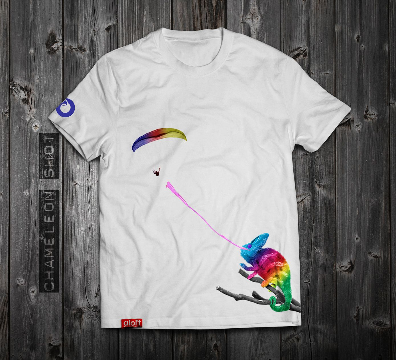 T shirt white brand - Www Aloft Clothing Chameleon Shot Men S T Shirt White Cotton