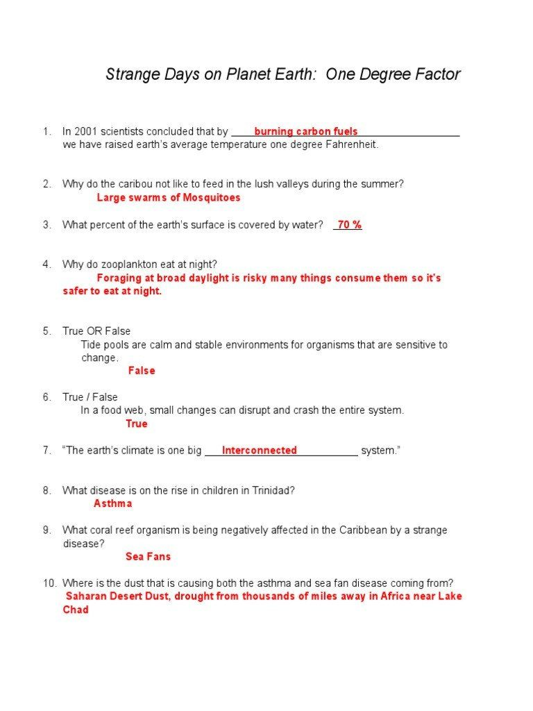 Planet Earth Freshwater Worksheet Answers Strange Days Worksheet Sea Text Structure Worksheets Worksheet Template Planets