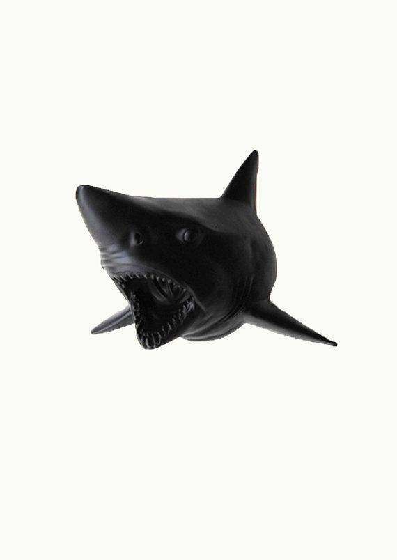 Shark Head Statue Figurine Wall Mount