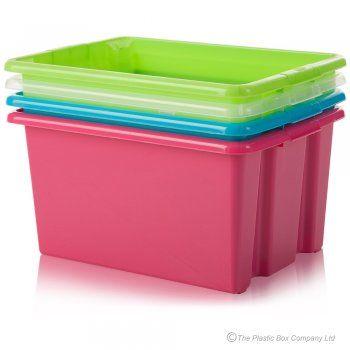 Buy 32lt medium stack and store plastic storage box | living room ...
