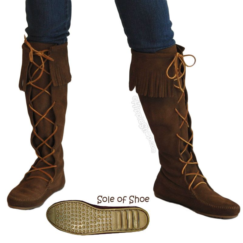 Minnetonka Front Lace Knee High Women's Boots on Sale for $79.95 ...