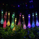 TOHUSE Outdoor Solar String Lights - Christmas Waterproof Water Drop Crystal Lighting Decorations for Garden... christmas deals week