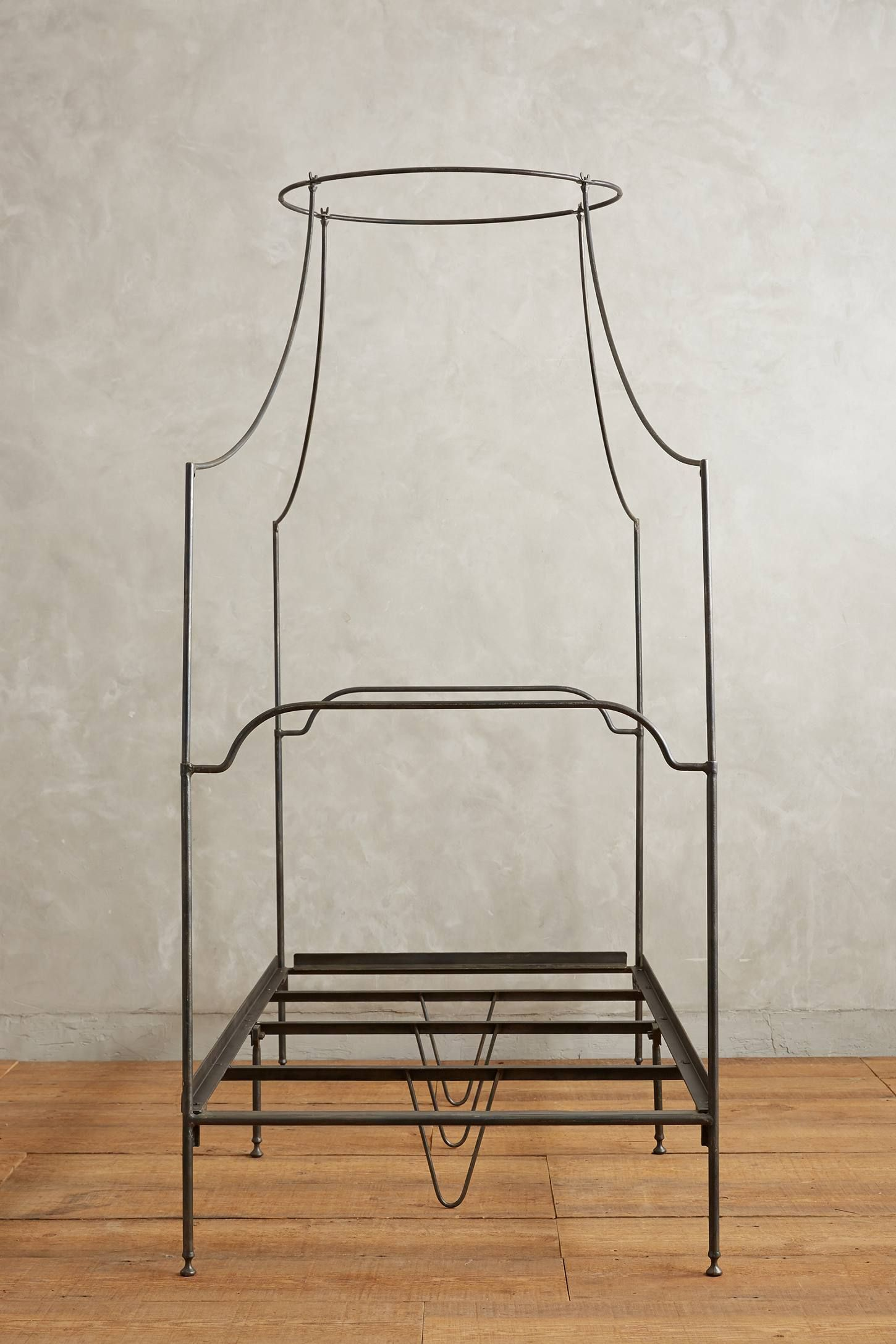1/9 Italian Canopy Bed Our sculpted wroughtiron frame