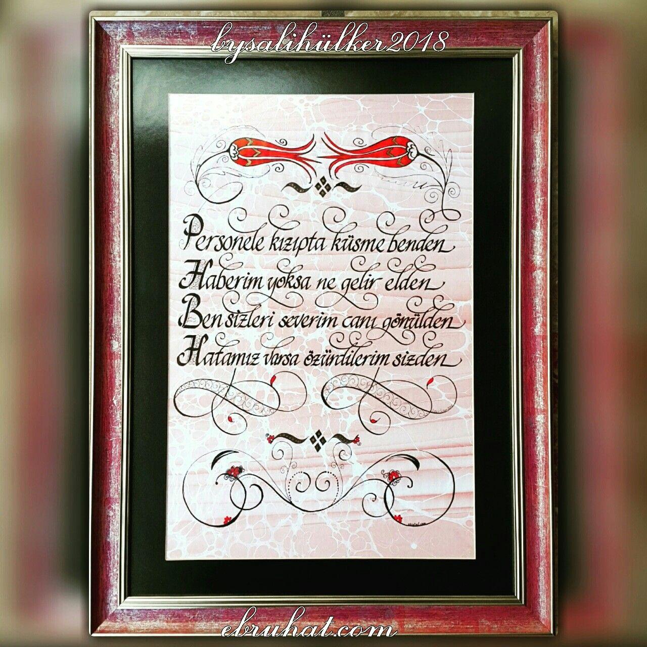 Calismalarimiz Kisiye Ozel Hazirlanabilir Ve Her Sehre Gonderilebilir Bysalihulker Calligraphy Elyazmasi Hediyelik Hediye Love Sevg Hediyeler Sanat Oya