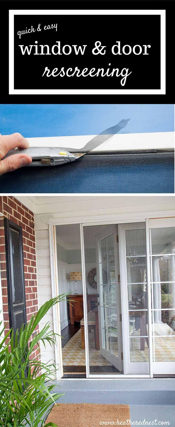 Diy Window Door Rescreening A Simple Way To Save Diy Window Home Improvement Projects Home Repairs