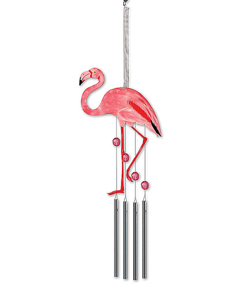 Loving this Bouncy Hanging Flamingo Wind Chime on #zulily! #zulilyfinds