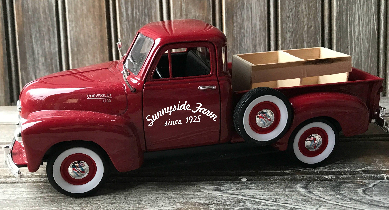 Diecast Vintage Pickup Truck Vintage Truck Decor Farmhouse Truck Decor Vintage Truck Little Red Truck Far Vintage Pickup Trucks Red Truck Decor Farm Trucks