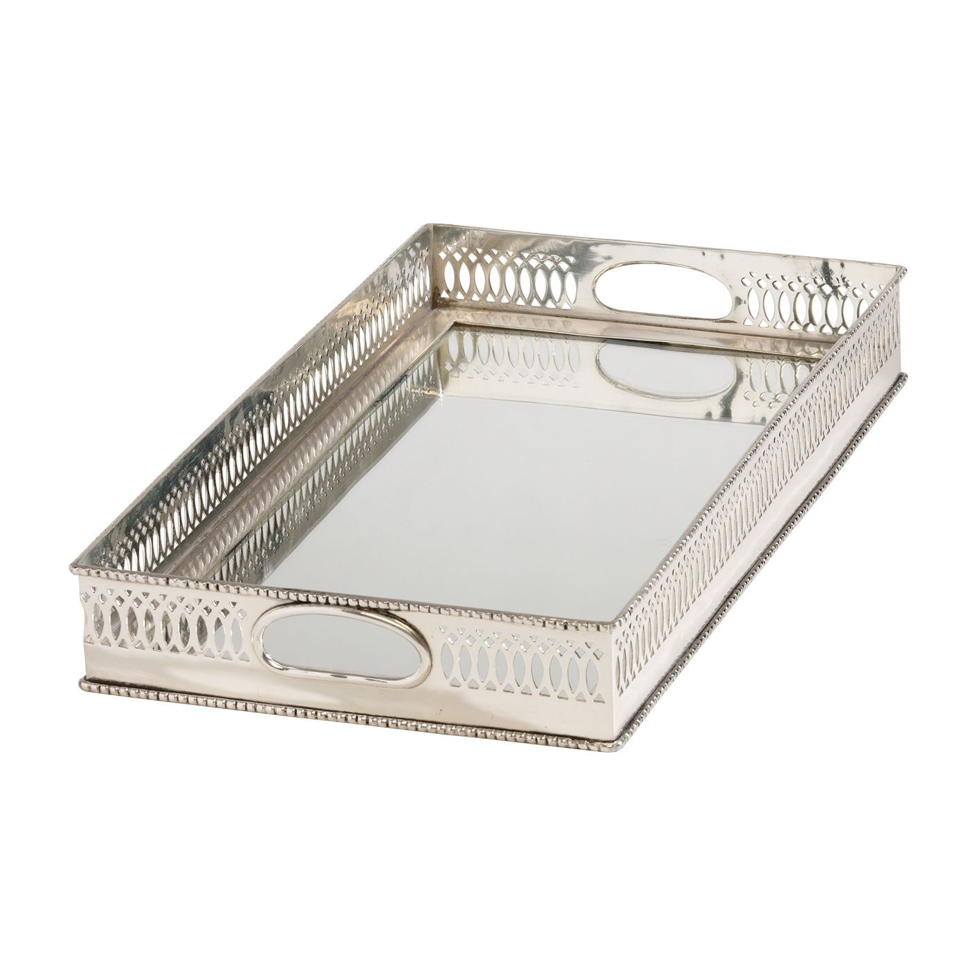 Home Decor Trays Silver Home Decortraditional Mirrored Silver Tray  Ethan Allen