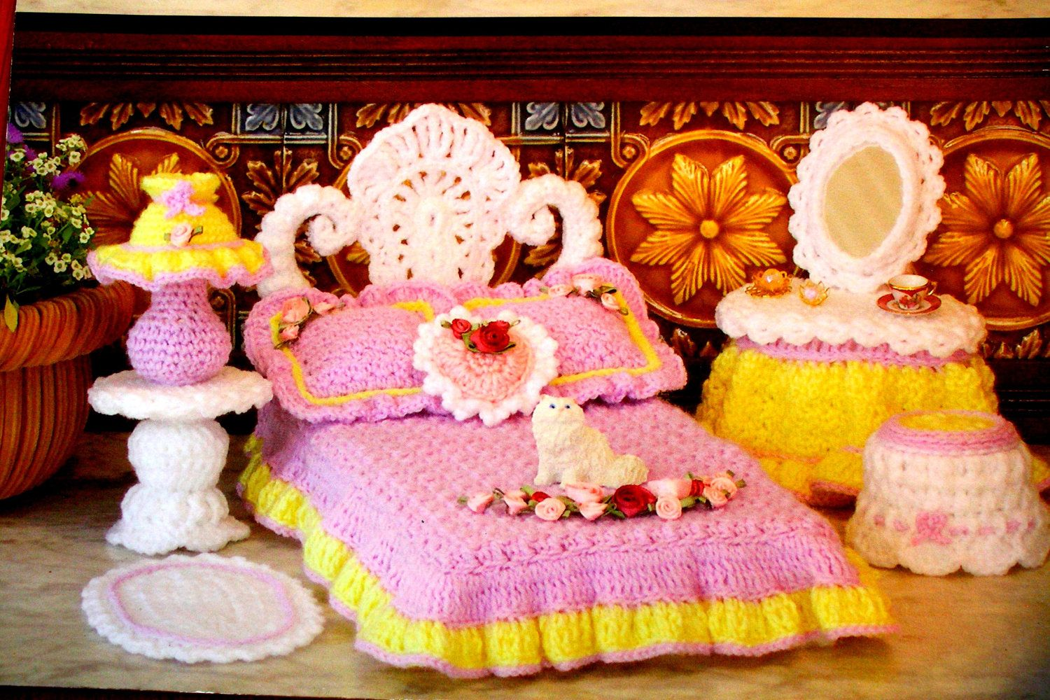 Doll Furniture Crochet pattern book. by HappinessAndYarn on Etsy, $4.25